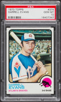 Baseball Cards:Singles (1970-Now), 1973 Topps Darrell Evans #374 PSA Gem Mint 10....