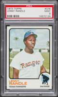 Baseball Cards:Singles (1970-Now), 1973 Topps Lenny Randle #378 PSA Mint 9....
