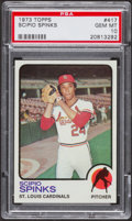 Baseball Cards:Singles (1970-Now), 1973 Topps Scipio Spinks #417 PSA Gem Mint 10 - Pop Two....