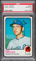 Baseball Cards:Singles (1970-Now), 1973 Topps Dick Drago #392 PSA Gem Mint 10 - Pop Three....