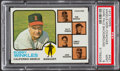 Baseball Cards:Singles (1970-Now), 1973 Topps Angels Mgr./Coaches (Dark Pale Background) #421 PSA Mint9....