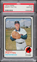 Baseball Cards:Singles (1970-Now), 1973 Topps Marty Pattin #415 PSA Gem Mint 10 - Pop Four....