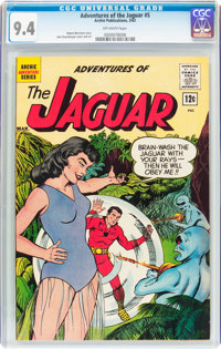 Adventures of the Jaguar #5 (Archie, 1962) CGC NM 9.4 Off-white pages