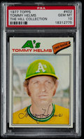 Baseball Cards:Singles (1970-Now), 1977 Topps Tommy Helms #402 PSA Gem Mint 10 - Pop Two. ...