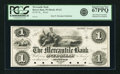 Obsoletes By State:Wisconsin, Beaver Dam, WI - Mercantile Bank $1 18__ WI-45 G2. Proof. PCGS Superb Gem New 67PPQ.. ...