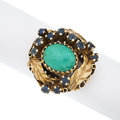 Estate Jewelry:Rings, Turquoise, Sapphire, Gold Ring. ...
