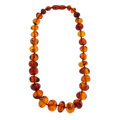 Estate Jewelry:Necklaces, Amber Bead Necklace. ...