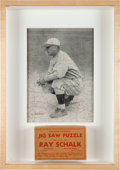 Baseball Collectibles:Others, Extremely Rare 1930's Ray Schalk (HoF) 200+ Piece Jig Saw PuzzlePlus Original Box. ...