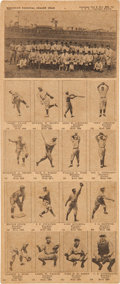 Baseball Cards:Sets, 1924 W504 Universal Toy Brooklyn Dodgers Uncut Sheet (16 + Team Header). ...