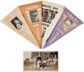 Baseball Cards:Lots, 1916 BF2 Ferguson Bakery Felt Pennants With Wagner and Miscut (4)Plus Photo. ...