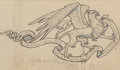Fine Art - Work on Paper:Drawing, Elihu Vedder (American, 1836-1923). The Winds Come and Go,Weathervane design for Torre Quattro Venti, circa 1904. Ink,...