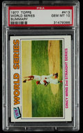 Baseball Cards:Singles (1970-Now), 1977 Topps World Series #413 PSA Gem Mint 10....