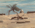 Fine Art - Painting, American:Antique  (Pre 1900), Elihu Vedder (American, 1836-1923). Tree and Graves on the Wayto Tel El Armano, Egypt, circa 1890. Oil on canvas. 12-1/...