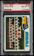 Baseball Cards:Singles (1970-Now), 1977 Topps Twins Team #228 PSA Gem Mint 10....