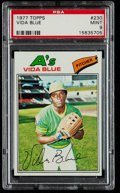 Baseball Cards:Singles (1970-Now), 1977 Topps Vida Blue #230 PSA Mint 9....