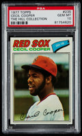 Baseball Cards:Singles (1970-Now), 1977 Topps Cecil Cooper #235 PSA Gem Mint 10 - Pop Two. ...