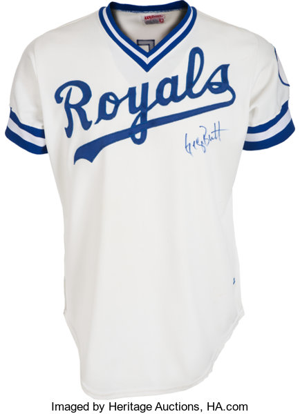 new style c0340 260d2 1982 George Brett Game Worn Kansas City Royals Jersey, MEARS ...