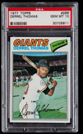 Baseball Cards:Singles (1970-Now), 1977 Topps Derrel Thomas #266 PSA Gem Mint 10....