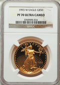 Modern Bullion Coins, 1993-W $50 One-Ounce Gold Eagle PR70 Ultra Cameo NGC. NGC Census: (438). PCGS Population (119). Numismedia Wsl. Price for ...