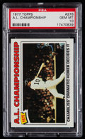 Baseball Cards:Singles (1970-Now), 1977 Topps A.L. Championship #276 PSA Gem Mint 10....