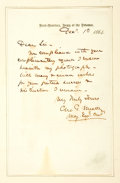 Autographs:Military Figures, [Civil War]. Union General George G. Meade Autograph Letter Signed...