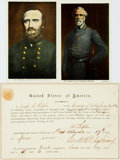 Miscellaneous:Ephemera, [Civil War]. Oath of Allegiance and Two Color Postcards....