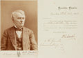Autographs:Statesmen, Pennsylvania Governor Andrew G. Curtain Civil War Pass and SignedCabinet Card Photograph....