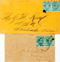 Miscellaneous:Ephemera, Two Confederate Postal Covers....