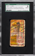 """Baseball Cards:Singles (Pre-1930), """"The"""" 1909-11 T206 Mullaney (Southern League) Overprint Back WithCy Young and Old Mill (Brown). ..."""