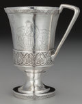 Silver Holloware, American:Cups, A Geraldus Boyce Coin Silver Footed Cup, New York, New York, circa1845. Marks: G. BOYCE, N.Y. 4-7/8 inches high (12.4 c...