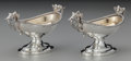 Silver Holloware, American:Open Salts, A Pair of Wood & Hughes Partial Gilt Coin Silver Putti OpenSalts, New York, New York, circa 1860. Marks: W & H,900/1000... (Total: 2 )