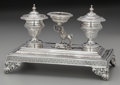 Silver & Vertu:Hollowware, A Spanish Silver Figural Inkwell: Poodle, Barcelona, Spain, circa 1825. Marks: (rooster), (Maltese cross-BAR). 6-1/4 inches ...