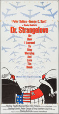 """Movie Posters:Comedy, Dr. Strangelove or: How I Learned to Stop Worrying and Love theBomb (Columbia, 1964). Three Sheet (41"""" X 77""""). Comedy.. ..."""