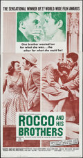 """Movie Posters:Foreign, Rocco and His Brothers & Other Lot (Astor, 1961). Three Sheets (2) (41"""" X 79""""). Foreign.. ... (Total: 2 Items)"""