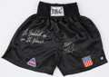 "Boxing Collectibles:Autographs, Mike Tyson ""The Baddest Man on the Planet"" Signed Trunks...."
