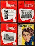 """Movie Posters:Miscellaneous, Photoplay & Other Lot (Photoplay Publishing, 1932). Magazines (4) (Multiple Pages, 8.5"""" X 11.5"""" & 9.5"""" X 12.25""""). Miscellane... (Total: 4 Items)"""