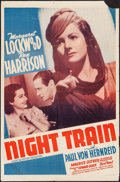 "Movie Posters:War, Night Train (20th Century Fox, 1940). One Sheet (27"" X 41""). War....."