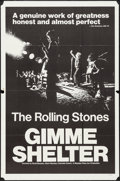 "Movie Posters:Rock and Roll, Gimme Shelter (20th Century Fox, 1970). One Sheet (27"" X 41"") &Photos (2) (8"" X 10""). Rock and Roll.. ... (Total: 3 Items)"