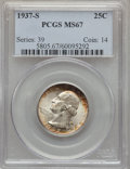 Washington Quarters, 1937-S 25C MS67 PCGS....