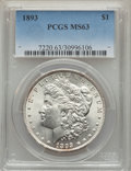 Morgan Dollars, 1893 $1 MS63 PCGS....