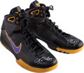 Basketball Collectibles:Others, 2008 Kobe Bryant Game Worn, Signed Shoes - Used 12/2 and 12/5....