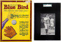 Baseball Cards:Lots, 1933 Blue Bird Babe Ruth, Front View SGC 60 EX 5 Plus Store Sign& Ad. ...