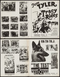 "Movie Posters:Adventure, The Test & Others Lot (Reliable, 1935). Press sheets (57) (11""X 17"") and Uncut Pressbooks (11) (Multiple Pages, 11"" X 17""&... (Total: 68 Items)"