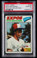 Baseball Cards:Singles (1970-Now), 1977 Topps Pete Mackanin #156 PSA Gem Mint 10 - Pop One....