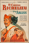 "Movie Posters:Drama, Cardinal Richelieu (20th Century Fox, 1935). Argentinean Poster (29"" X 43""). Drama.. ..."