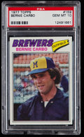 Baseball Cards:Singles (1970-Now), 1977 Topps Bernie Carbo #159 PSA Gem Mint 10 - Pop Three....