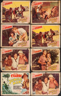 "Movie Posters:Adventure, Jungle Man (PRC, 1941). Title Lobby Card & Lobby Cards (7) (11""X 14""). Adventure.. ... (Total: 8 Items)"