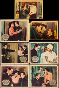 "Movie Posters:Crime, King of the Underworld (Warner Brothers, 1939). TrimmedLinen-Finish Lobby Cards (2) (9"" X 14"") & Other Company LobbyCards ... (Total: 7 Items)"