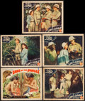 "Movie Posters:Adventure, Jaws of the Jungle & Other Lot (Jay-Dee-Kay Productions, 1936).Lobby Cards (5) (11"" X 14""). Adventure.. ... (Total: 5 Items)"