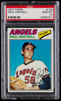 Baseball Cards:Singles (1970-Now), 1977 Topps Paul Hartzell #179 PSA Gem Mint 10 - Pop Two. ...